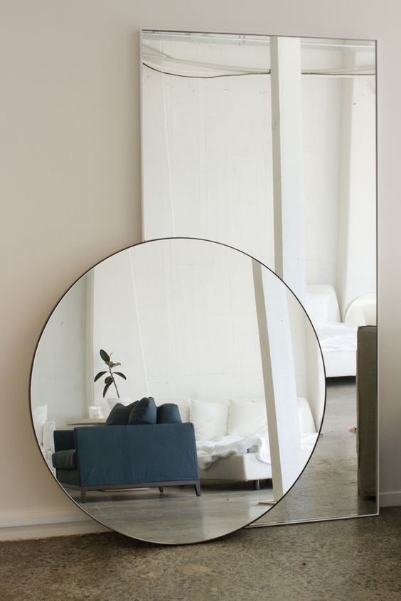 stort rundt spejl 4 mm rundt spejl med poleret kanter | Altid billige glaspriser stort rundt spejl