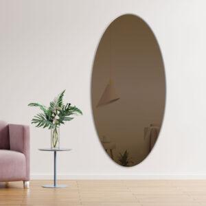 Oval bronze spejl