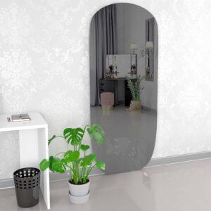Ovalt spejl gråt