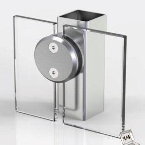 Front monteret rundt klembeslag til at holde 2 glas