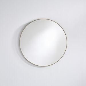Rundt spejl med ramme bronze rammer