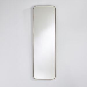 Entrée spejl med afrundede hjørner og smal ramme