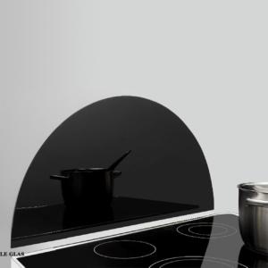 Cirkel form stænkplade sort
