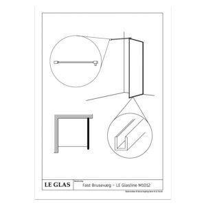 Fast Brusevæg – LE Glasline M1012