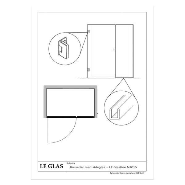 Walk -in brusevæg – LE Glasline M1023