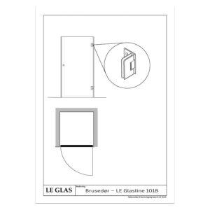 Brusedør – LE Glasline 1018