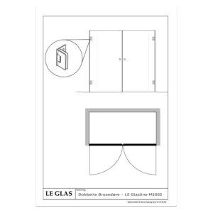 Dobbelte Brusedøre – LE Glasline M1022