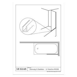Glasvæg til Badekar - LE Glasline M1026