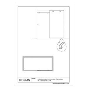 Bruseafskærmning med skydedøre LE Glasline M1028