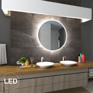 Rundt LED Spejl