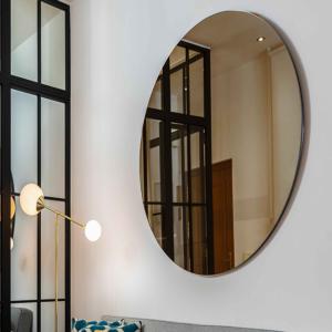 Rundt bronze spejl