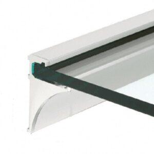 Glaskonsol Aluminium krom overflade