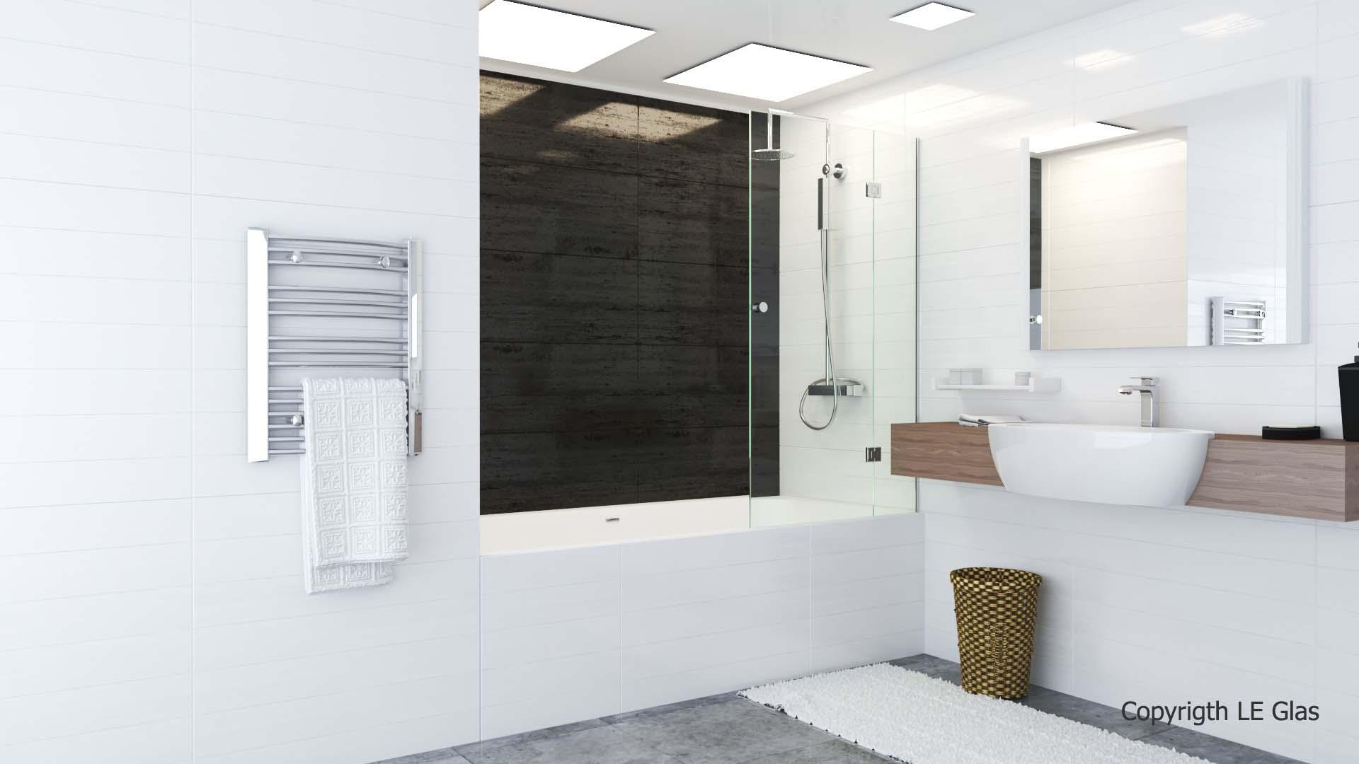 Glas afskærmning til badekar model 1026
