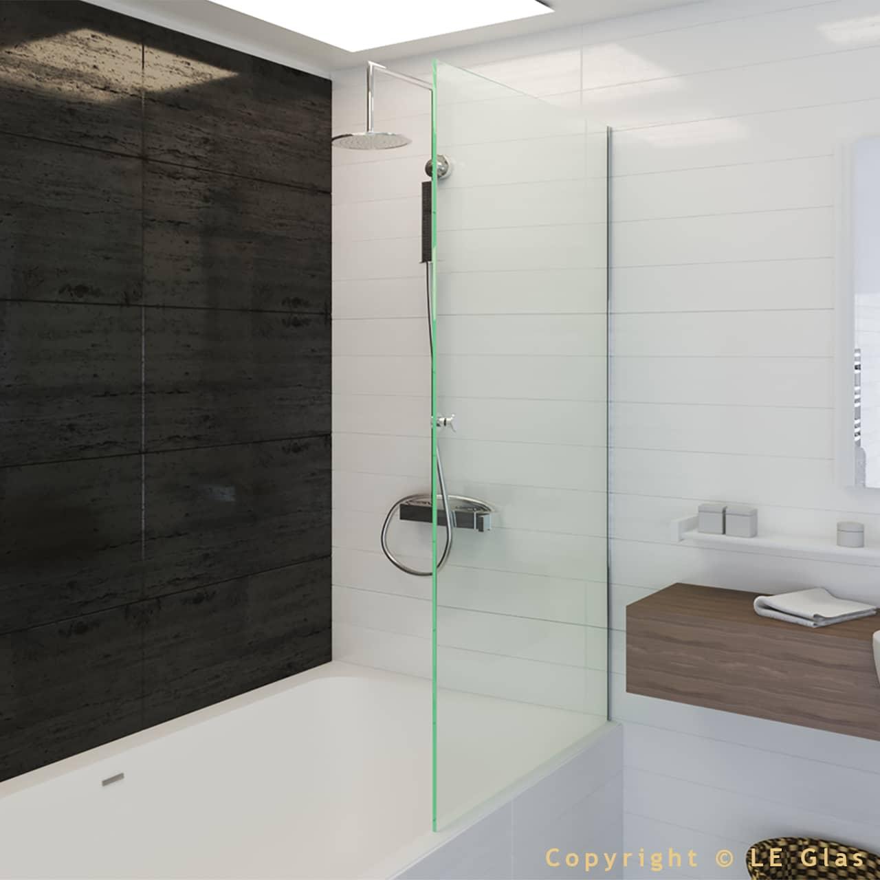 Le Glas brusevæg til badekar