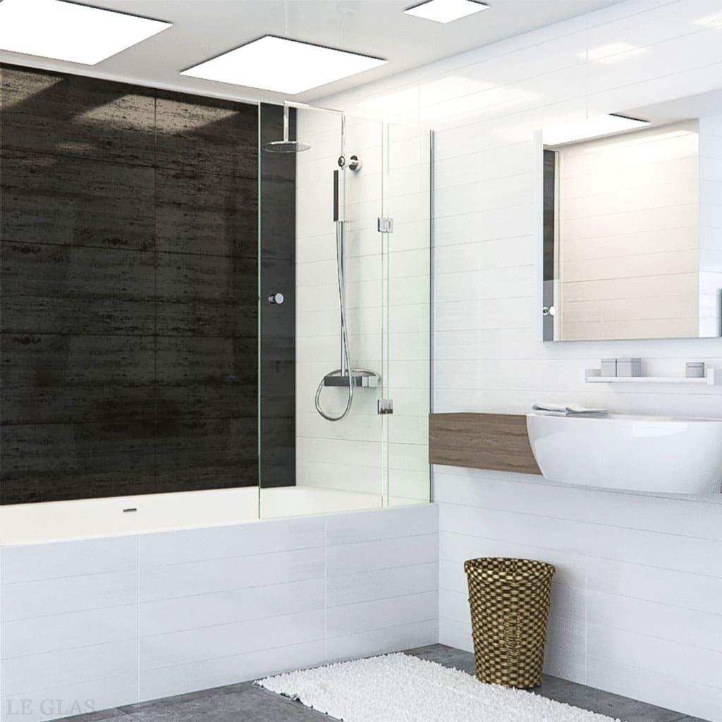 Glasvæg til badekar