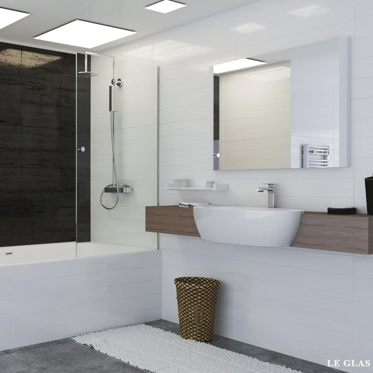 Brusevæg til badekar